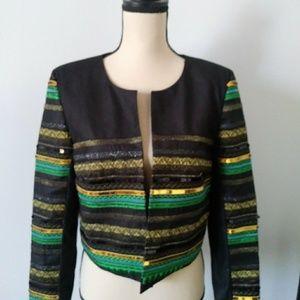 H&M Black Sequin/Embellished Jacket/Blazer